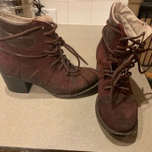 Freebird cage leather boot